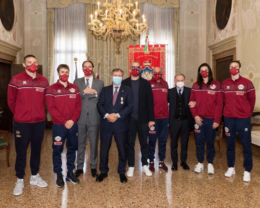 Reeyer Venezia: Luigi Brugnaro e Federico Casarin ricevono la Stella d'Oro Coni al Merito sportivo